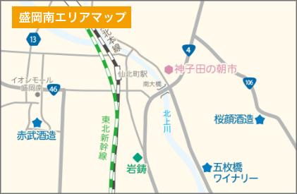 盛岡南エリアマップ