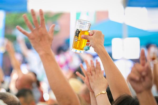 春と秋のビールイベントは、 大勢のお客様で盛り上がります。
