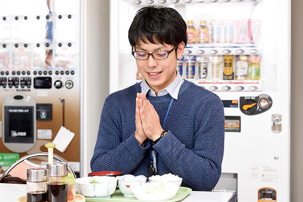 オフィスは盛岡の中心部ですが、 社食やコンビニが多いかな。